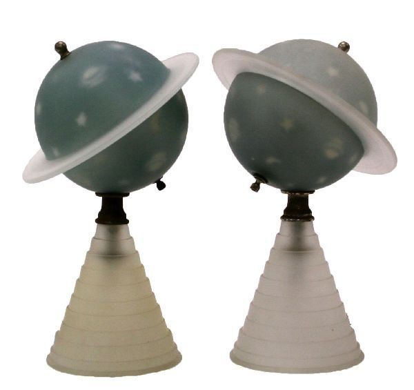 Another View Of The 1939 World S Fair Saturn Lamp Art Deco Lamps 1930s Decor Lamp