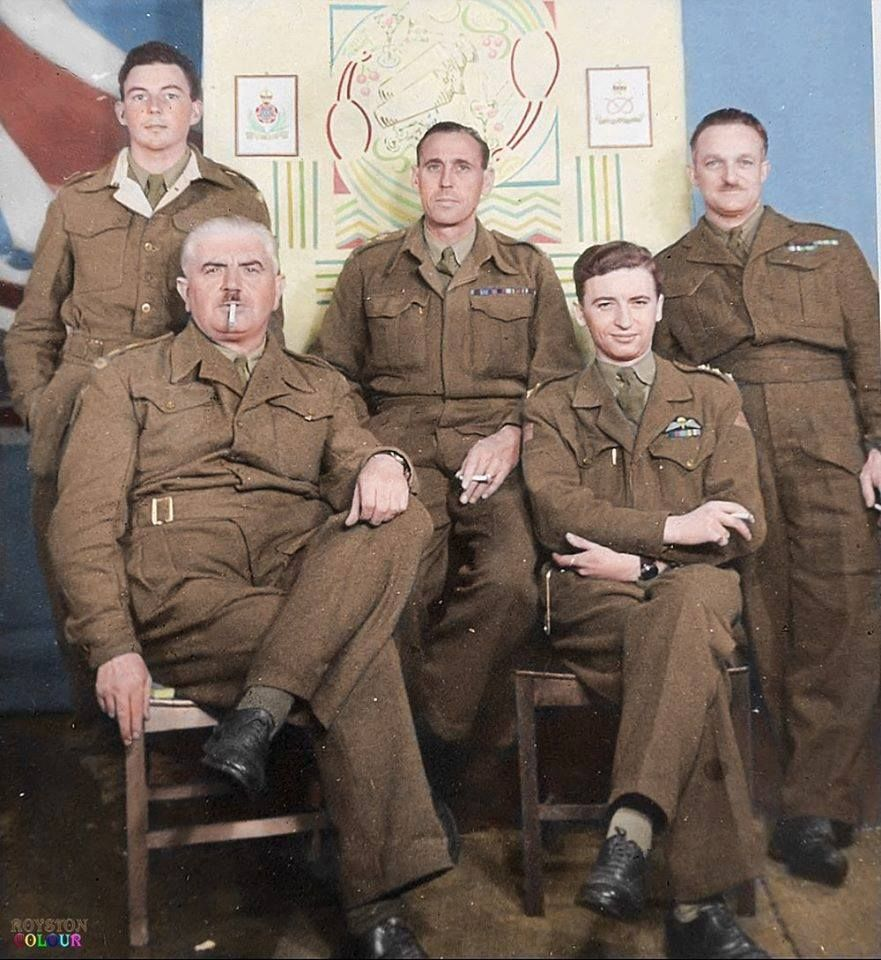 British Army Intelligence Corps Officers In Special Camp