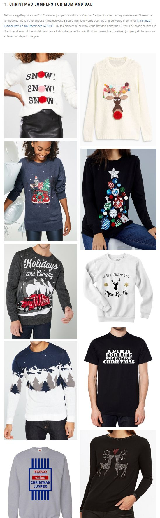 Round up of the Best Christmas Jumpers for 2018. Snowflake