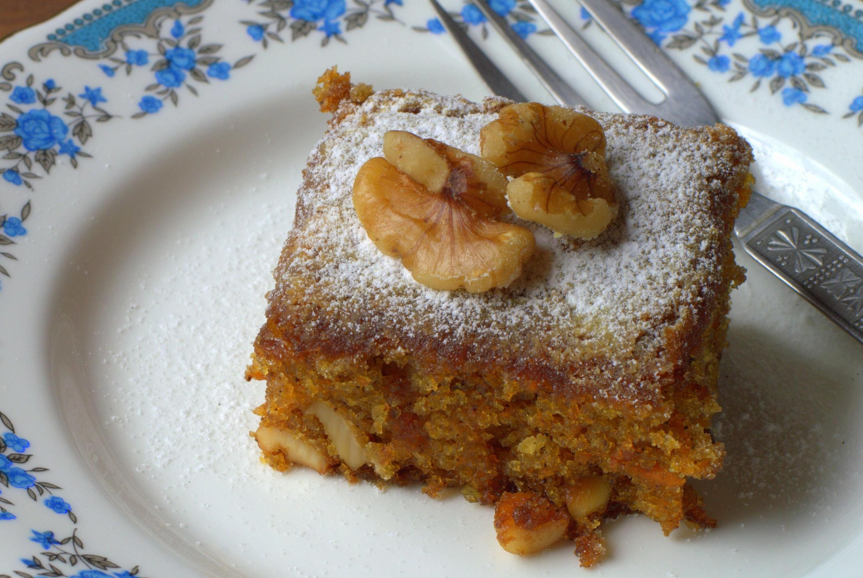 Soft Whole Wheat Carrot Cake Baking In A Convection Microwave