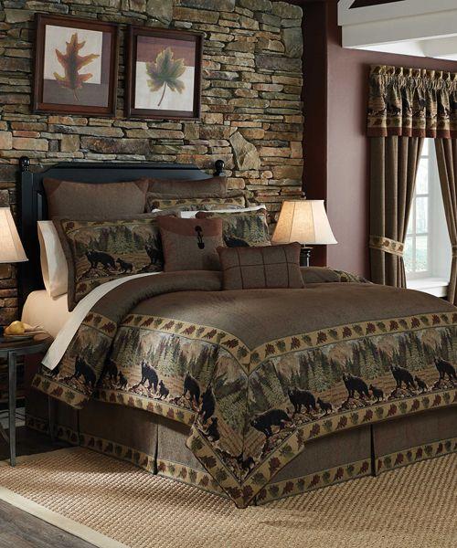 Cabin Bedding Sets Comforter, Luxury Lake House Bedding