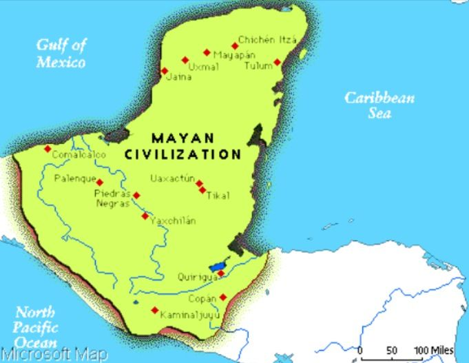 Mayan Civilization Map The Mayan Empire | Mayans, Inca, Aztec | Maya civilization, Mayan