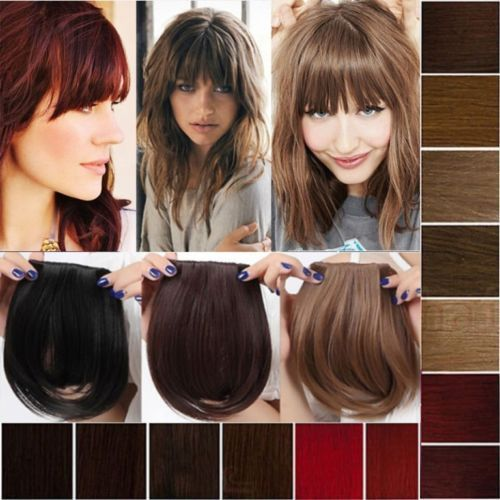 100% New Real style Natural bangs hairdo clip on bangs Human black brown blonde #Unbranded #HairExtension