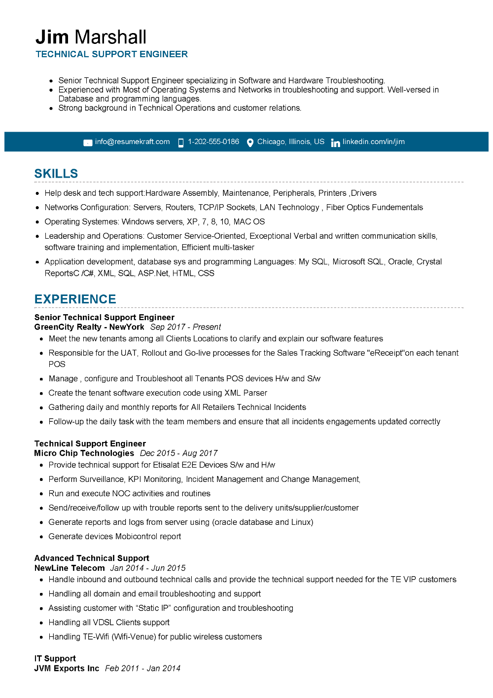 100 Professional Resume Samples For 2020 Resumekraft Resume Best Resume Format Professional Resume Samples