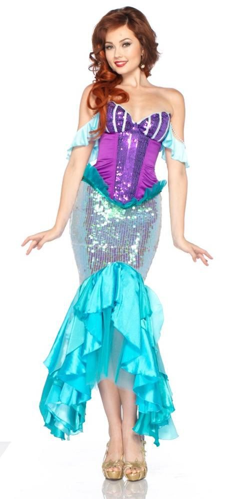 62994c13a9825 Adult Disney Princess Ariel Woman Mermaid Costume | Party Ideas ...