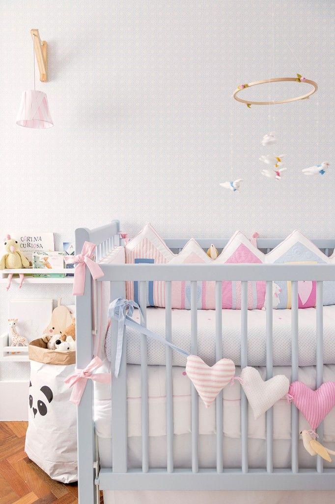 Habitaci n de beb en colores pastel habitaciones beb s - Decoracion para habitacion de bebe nina ...