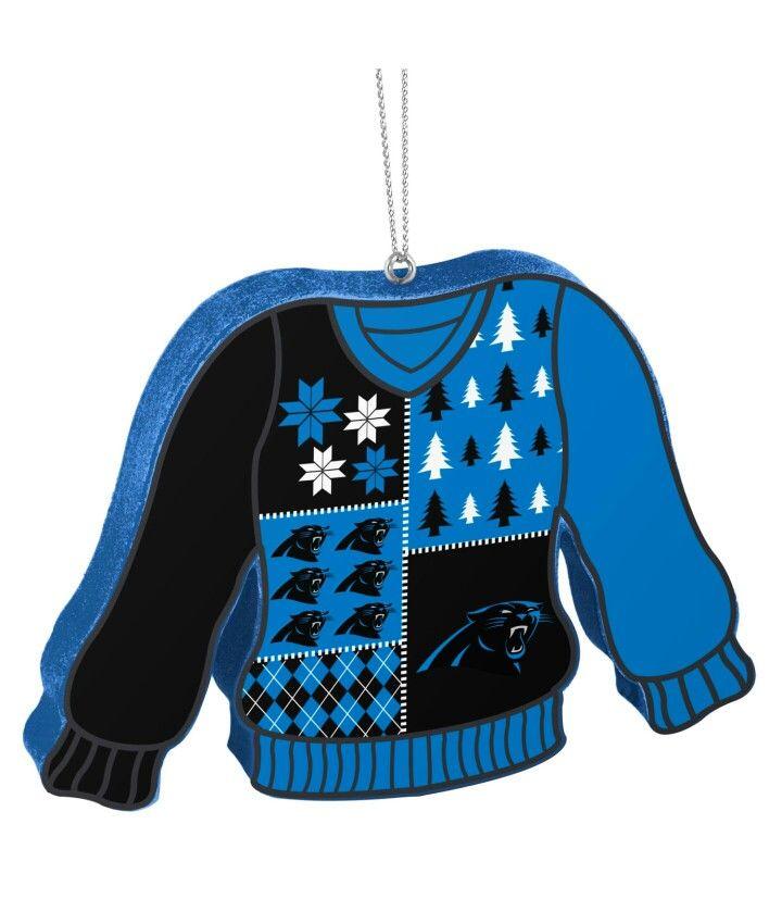 Ugly Sweater Ornament Carolina Panthers Xmas Decorating Carolina