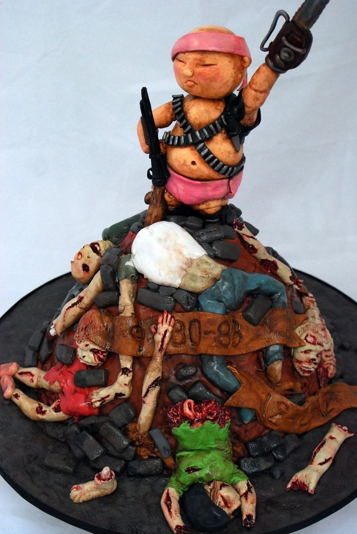 Baby Zombie Slayer Cake Baby Zombie Slayer for baby shower