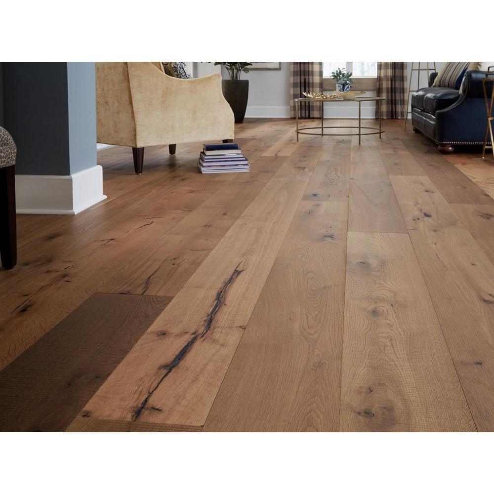 Mustang White Oak Distressed Engineered Hardwood Xl Plank In 2020 Wood Floors Wide Plank Hardwood Floor Colors Wood Floor Colors