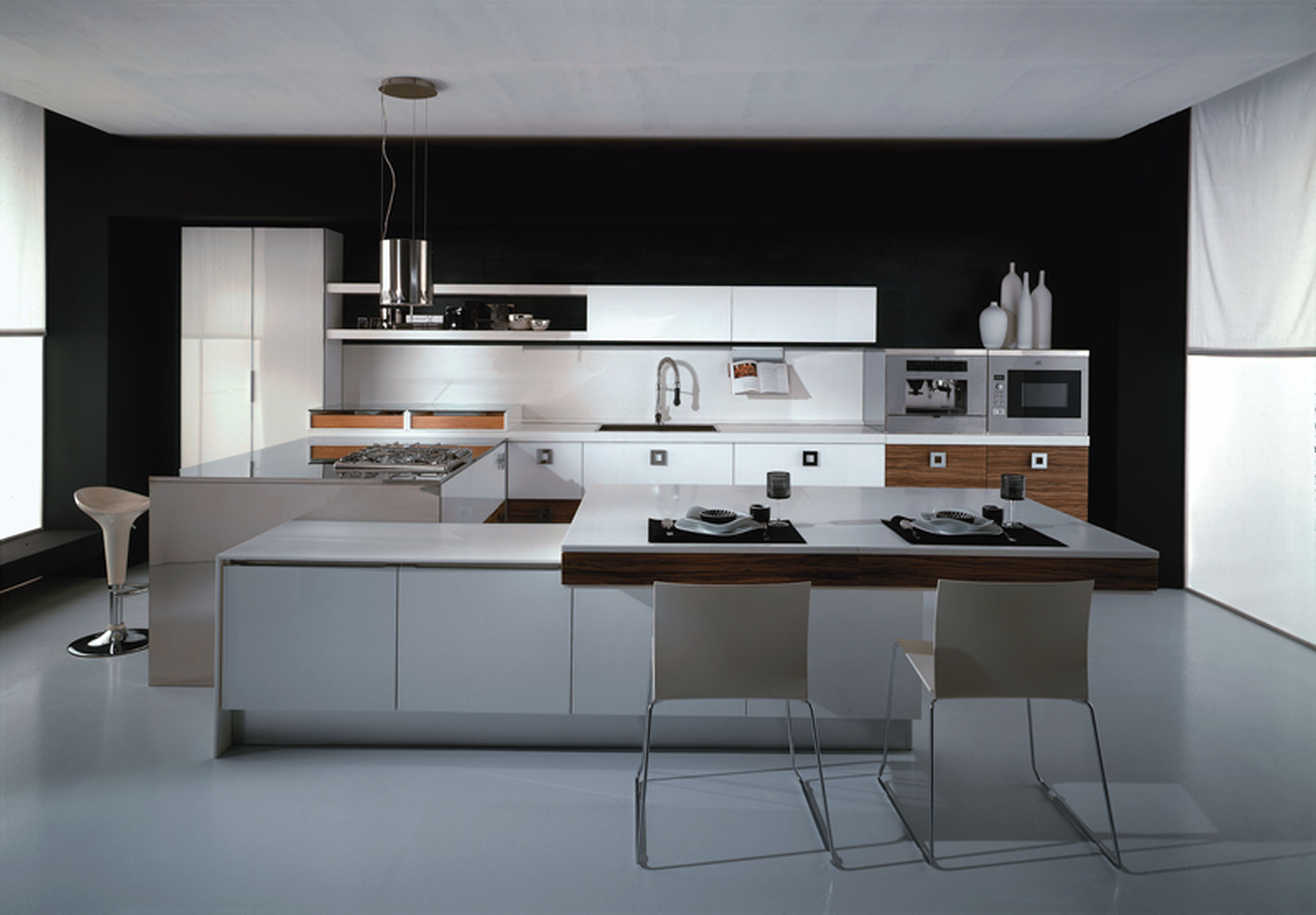 Gentil Italian Modern Kitchen Design Photo