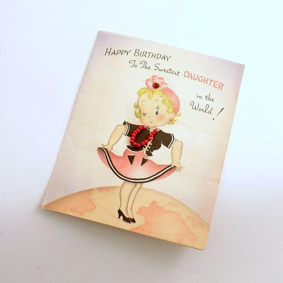 Vintage Happy Birthday Card Rare Susie Q Card by efinegifts