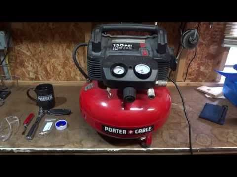 Air Compressor Drain Valve Replacement Porter Cable C2002 Youtube Porter Cable Used Power Tools Youtube