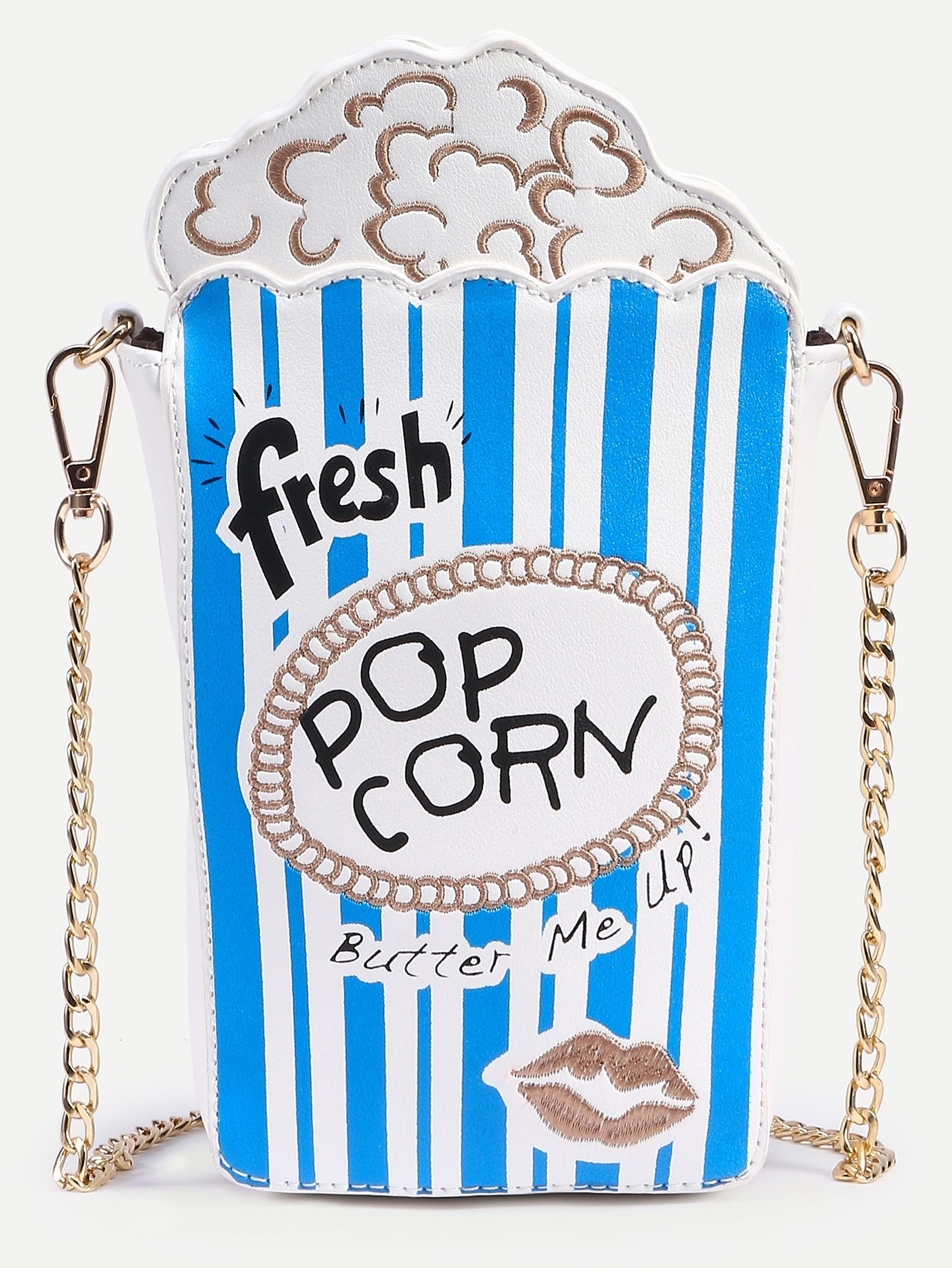 Shop Blue Striped Popcorn Bag With Chain online. SheIn offers Blue Striped Popcorn Bag With Chain & more to fit your fashionable needs.