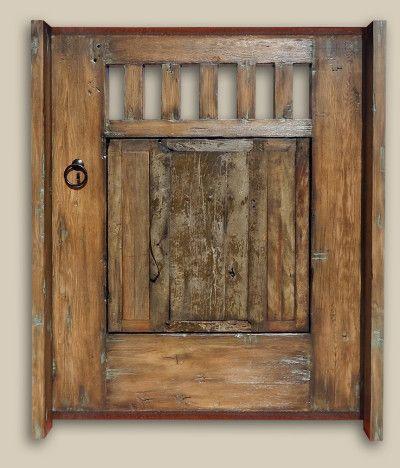 Gate Made with Antique Mexican Door | La Puerta Originals - Gate Made With Antique Mexican Door La Puerta Originals Gates