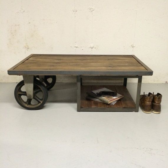 Industrial Vintage Antique Cart Coffee Table I Love Old Metal And Wood U003c3
