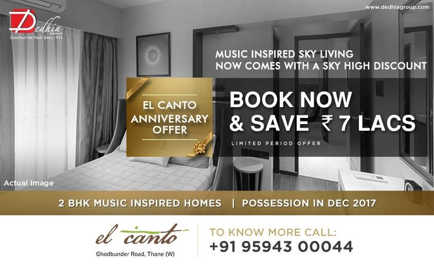 Dedhia Elcanto Music inspired sky living now comes with a sky high discount Ultra Luxurious 2 BHK Homes - Book Now & Save 7 Lacs. www.dedhiagroup.com #dedhia #dedhiagroup #realestate #luxury #luxurioushouse #realtor #propertymanagement #bestpropertyrates #homesellers #bestexperience #homebuyers #dreamhome #thane #ghodbunder