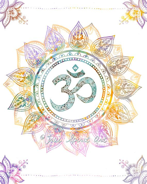 Om Symbol Art Print 8x10 Print Mandala by LeslieSabella on ...