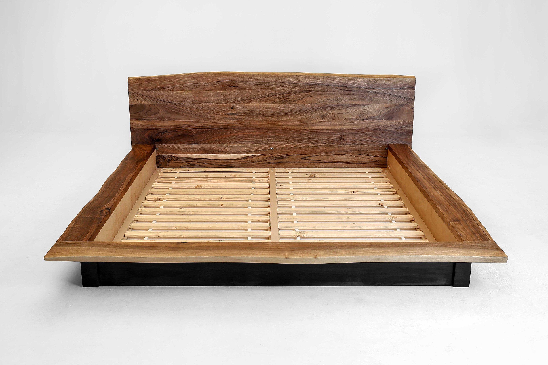 Minimal Bed Frame Walnut Bed Frame European Walnut Wood Platform