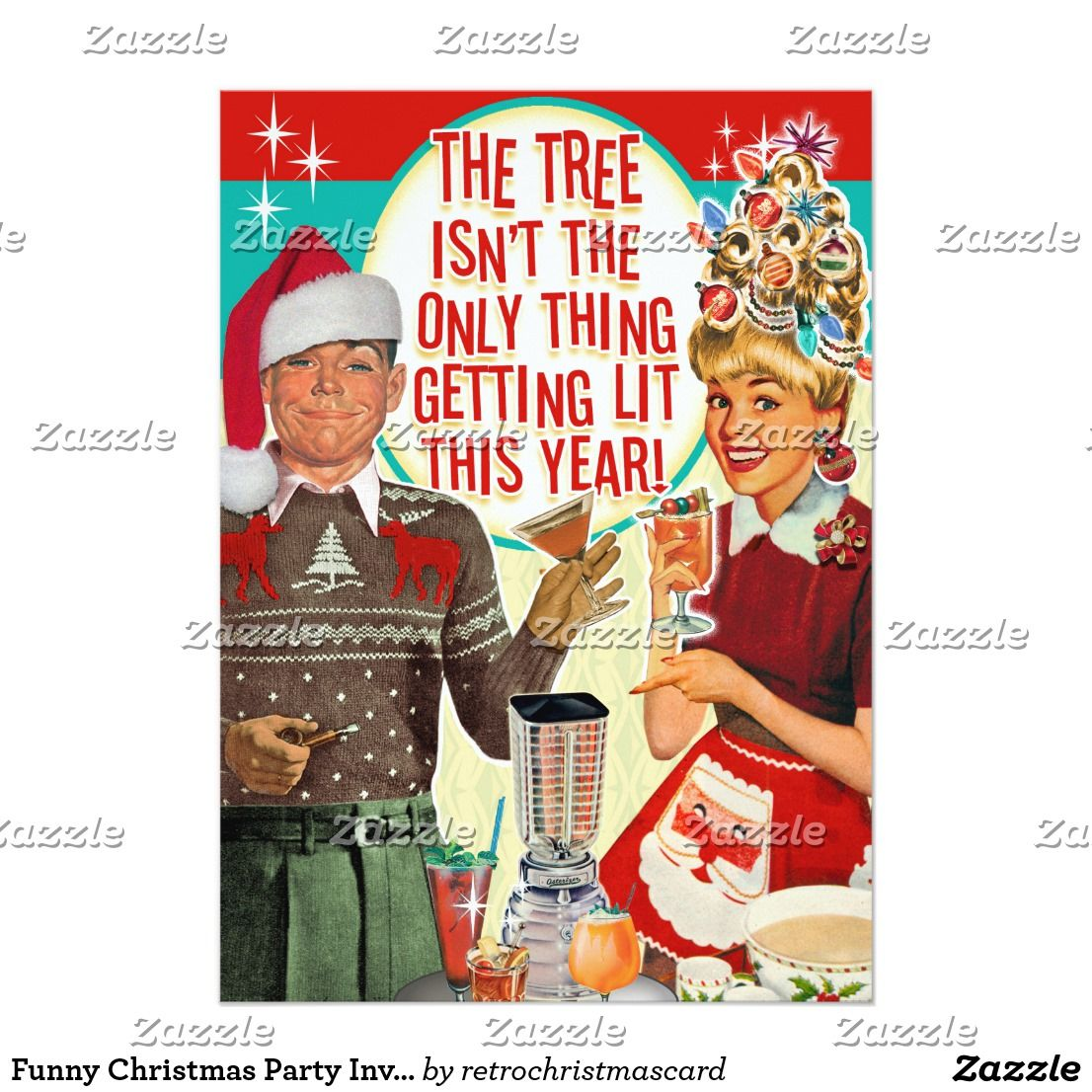 Funny Christmas Party Invitations | Getting Lit | Funny christmas ...