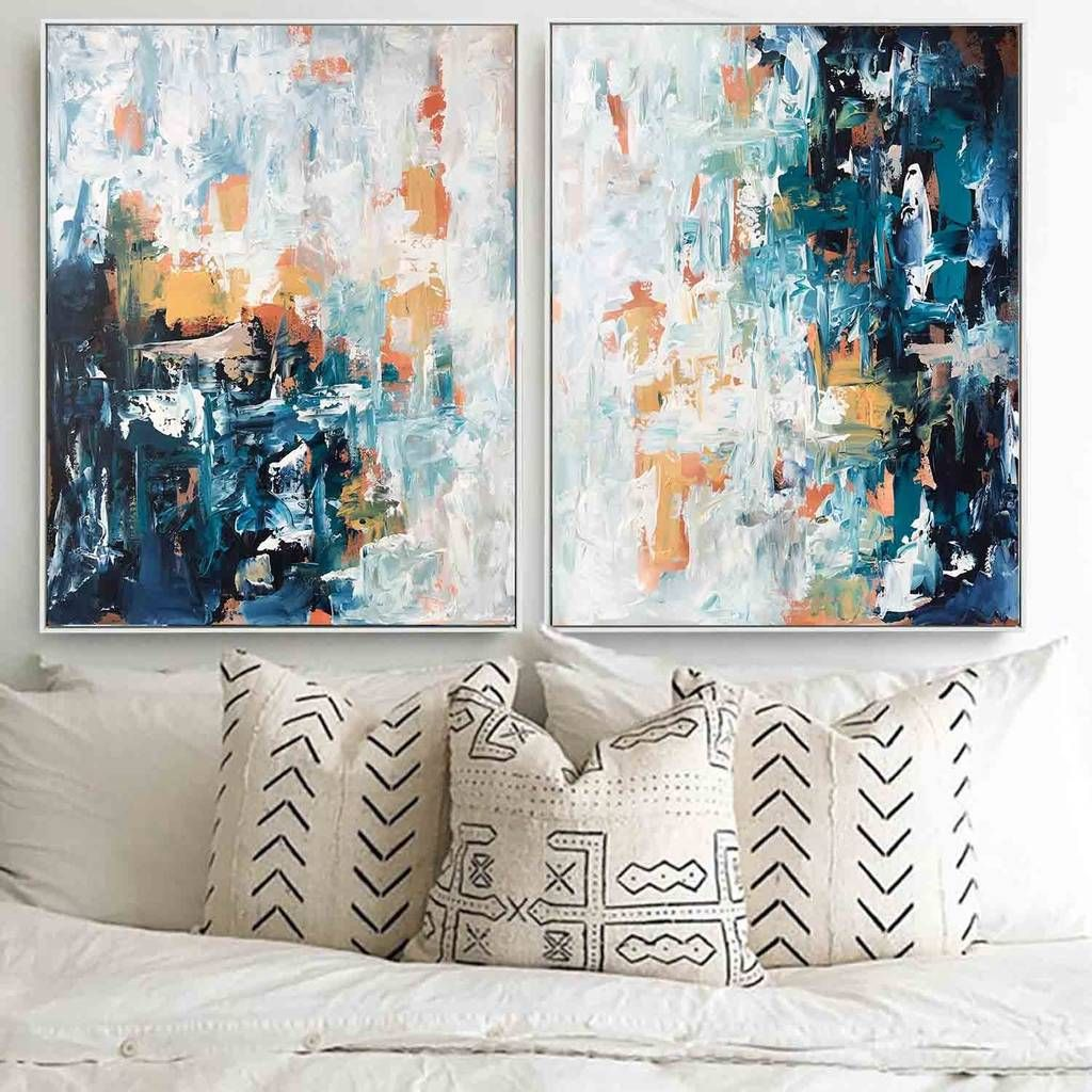 Diptych Two Piece Original Abstract Paintings Diptych Abstract Art Paintings Acrylics Abstract Canvas Painting