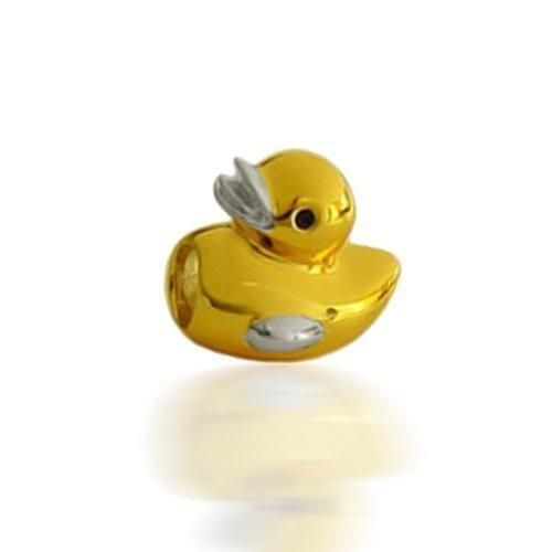 Bling Jewelry Gold Vermeil Rubber Ducky Sterling Silver Animal Bead Fits Pandora