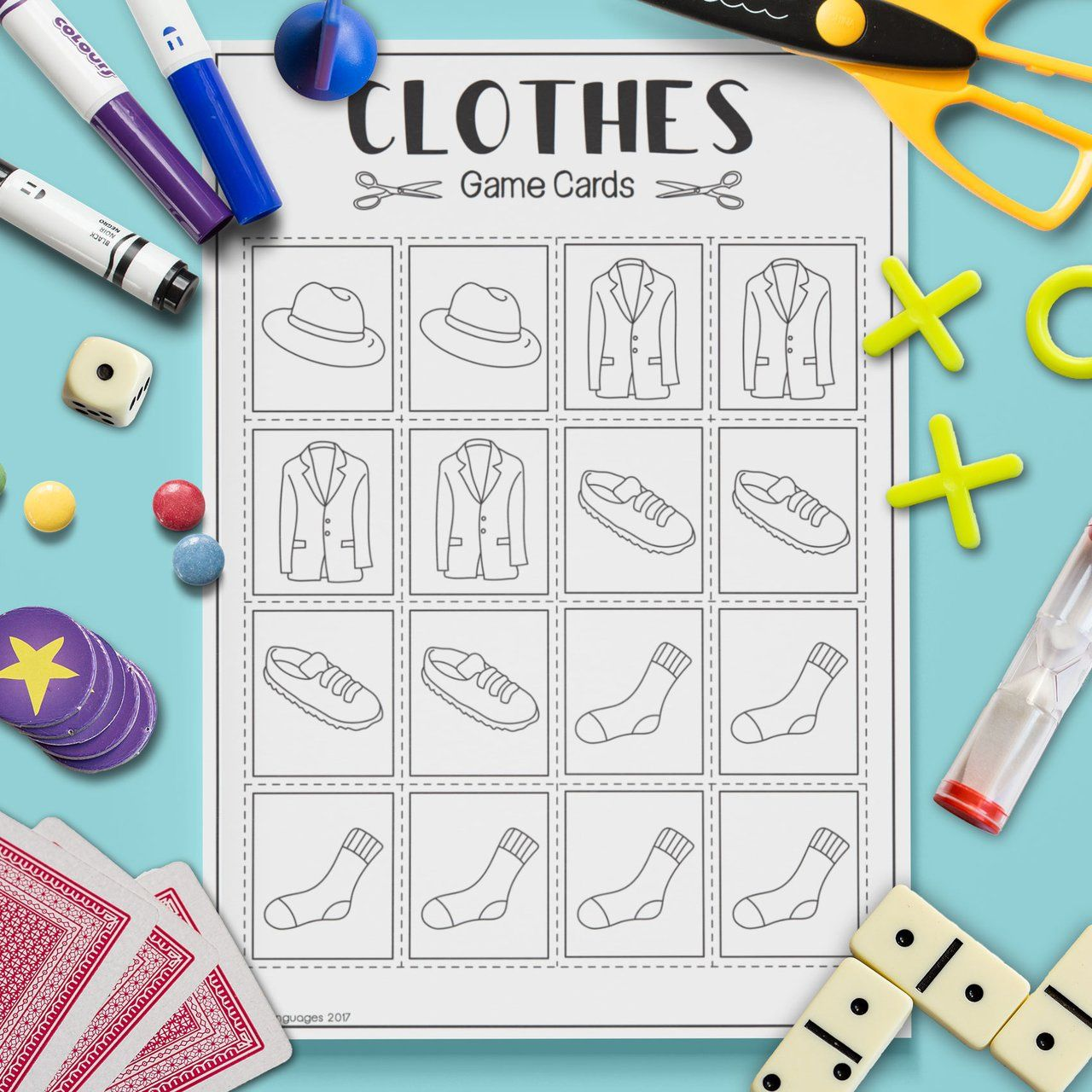 Clothes Shopping List Game
