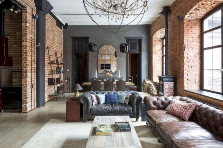 awesome red brick wall interior design | Awesome Classic Interior Wall Using Red Brick Ideas in ...