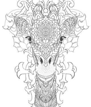 Kleurplaten Voor Volwassenen Giraf.Coloring Africa Giraffe Zentangle Kleuren Voor Volwassenen