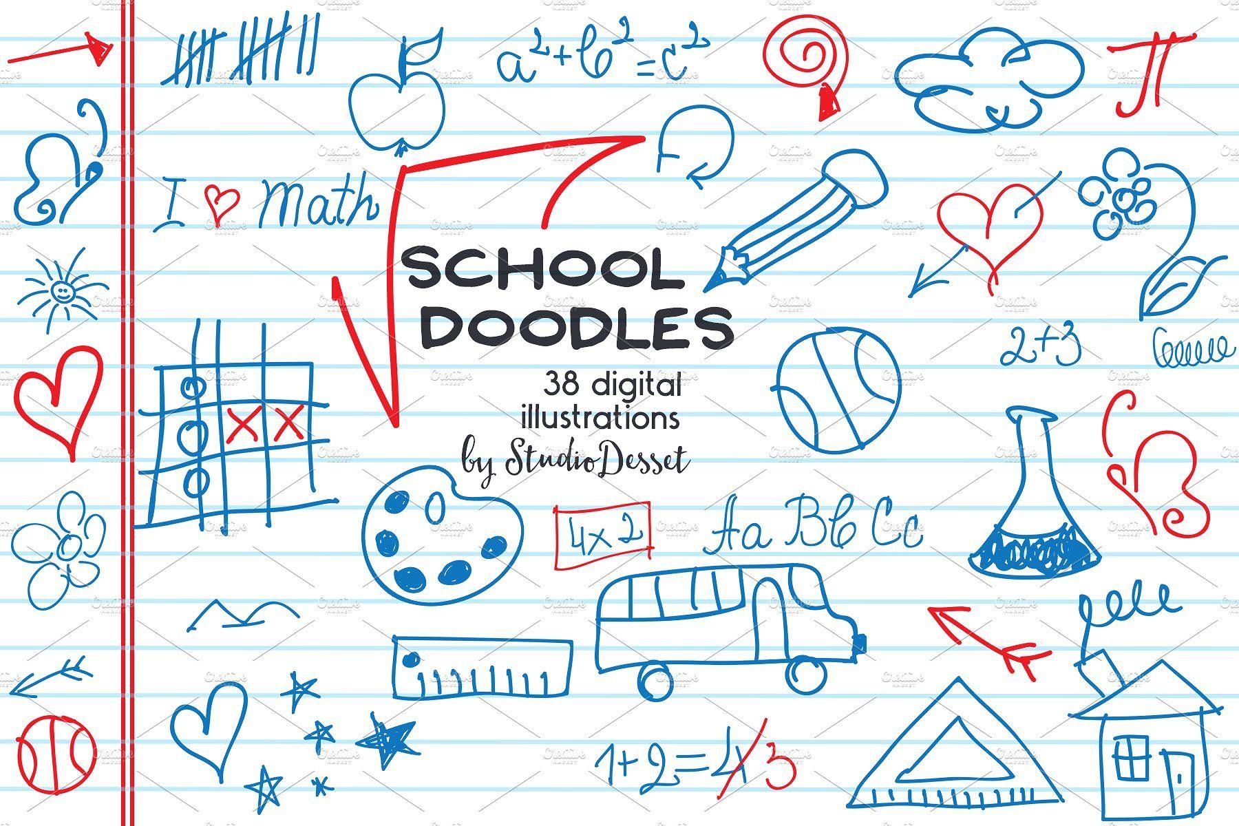 School Doodles   Doodles, Notebook doodles, Digital ...