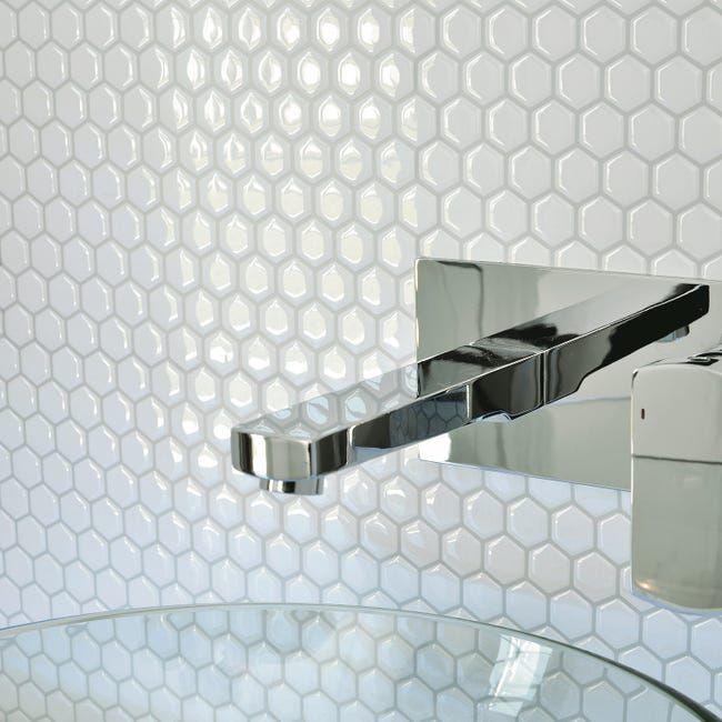 Credence Adhesive Imitant Carrelage Hexago L 28 63 X L 24 46 Cm Smart Tiles Leroy Merlin En 2020 Carrelage Intelligent Carrelage Mosaique Credence Adhesive