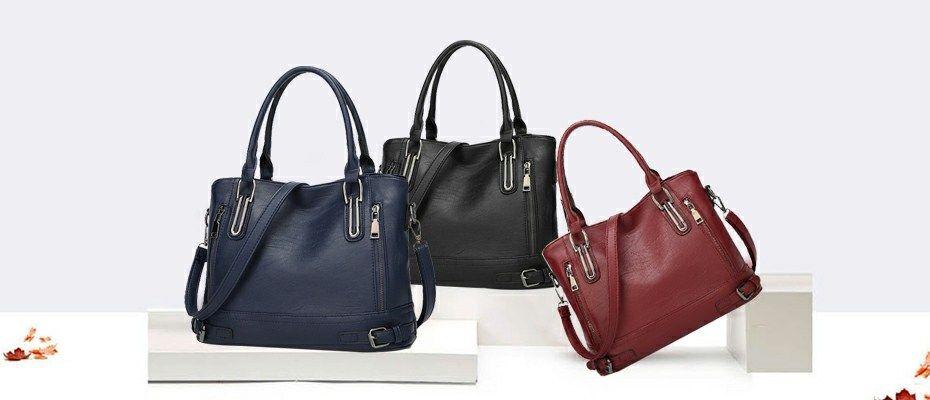 Bolish Litchi Pattern Soft PU Leather Women Handbag Two Pieces Female  Shoulder Bag Girls Messenger c28c283ad430b