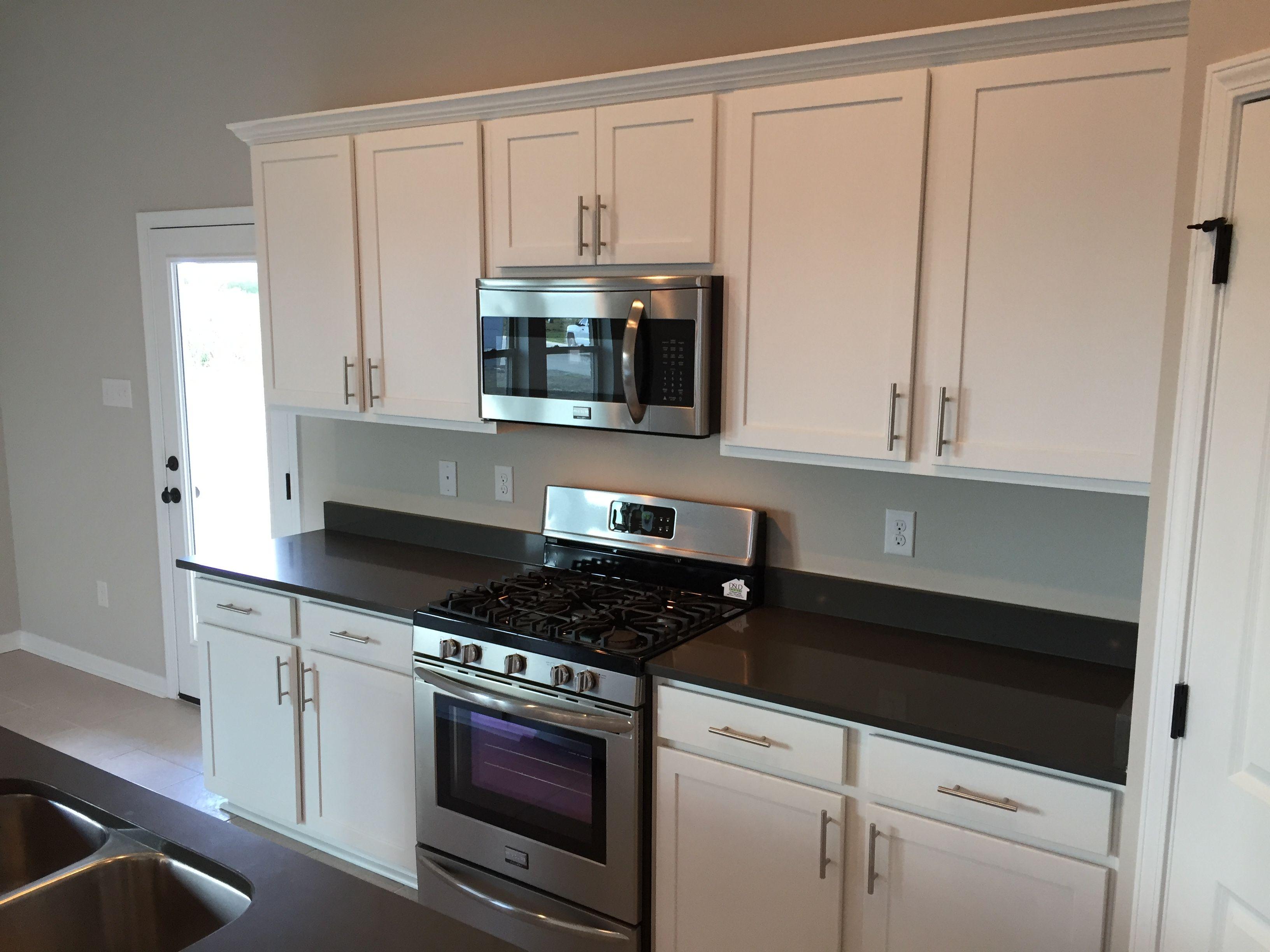 Oxford Kitchen White Cabinets Graphite Quartz Counters Kitchen White Cabinets Cabinet