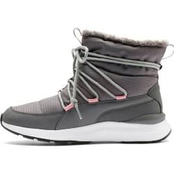 Puma Damen Mid Boot Adela Winter Boot, Größe 40 ½ In Steel Gray-Puma White, Größe 40 ½ In Steel Gray