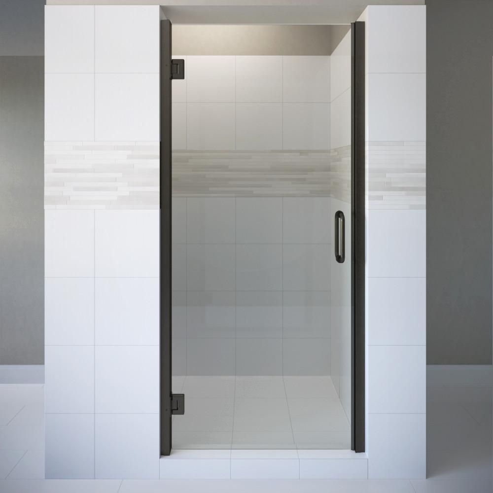 Basco coppia in x in semiframeless pivot shower door in oil
