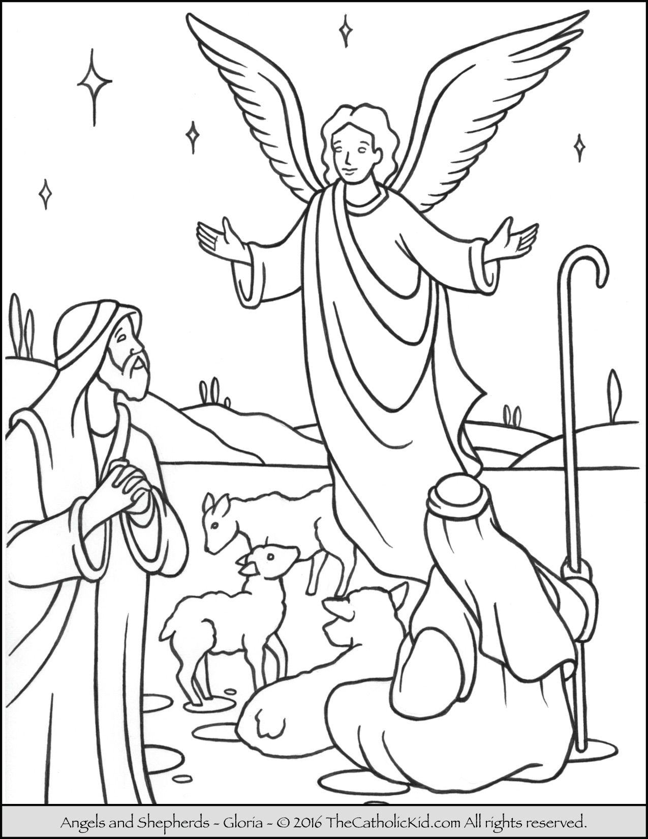 angels shepherds gloria coloring page nativity coloring pages angel coloring pages christmas coloring pages