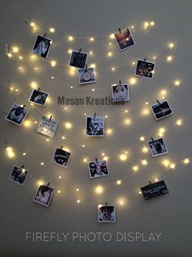 String Lights With Clips Mason Firefly Lights Silver Wire  Craft Clips & Batteries Included