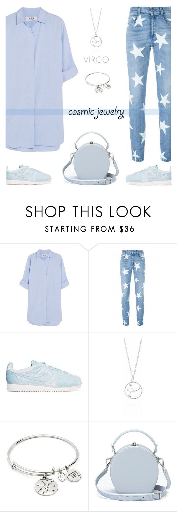 """""""Blue"""" by ivka-detektivka ❤ liked on Polyvore featuring M.i.h Jeans, STELLA McCARTNEY, NIKE, Chrysalis, Handle and cosmicjewelry"""