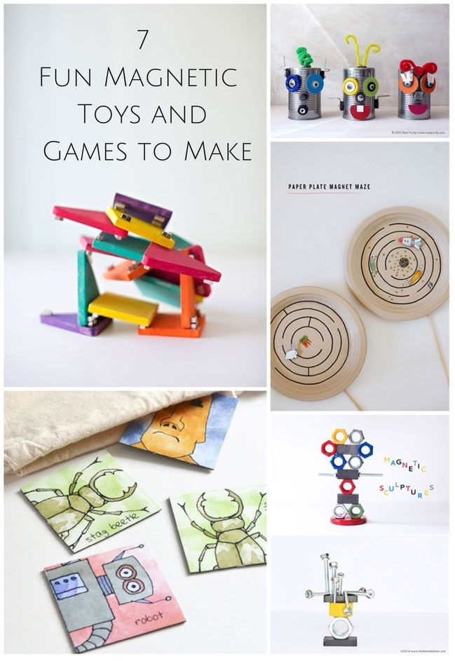 8 Fun Magnetic Toys And Games To Make Magnetic Toys Kids Magnets Homemade Toys