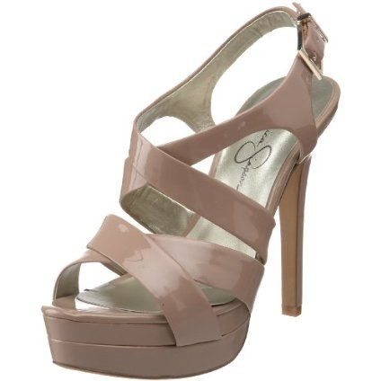 Jessica Simpson Women`s Endo High Heel Strappy Sandal,Nude Patent,5 M US $79.00