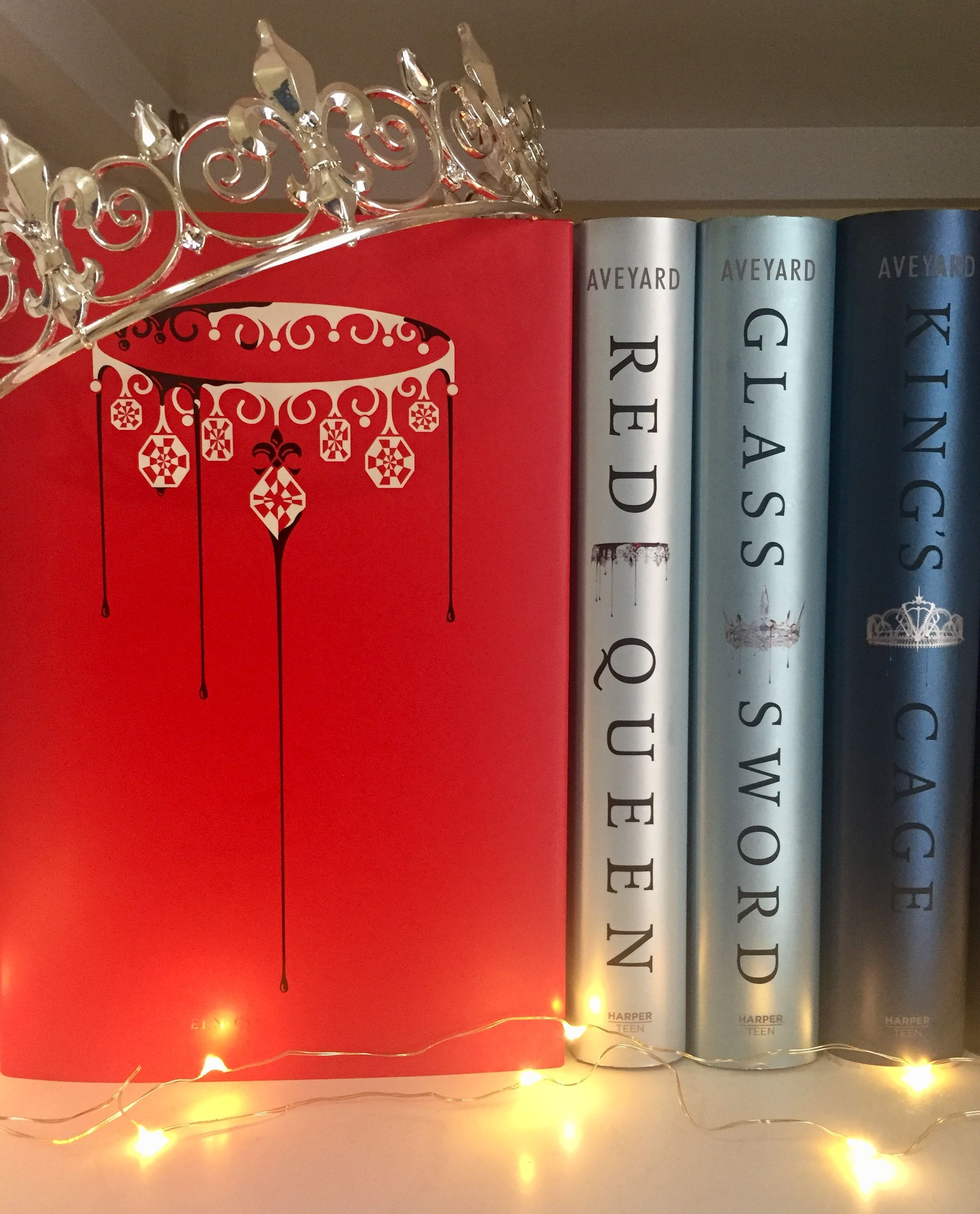The Red Queen Series By Victoria Aveyard Set Up On My Shelf