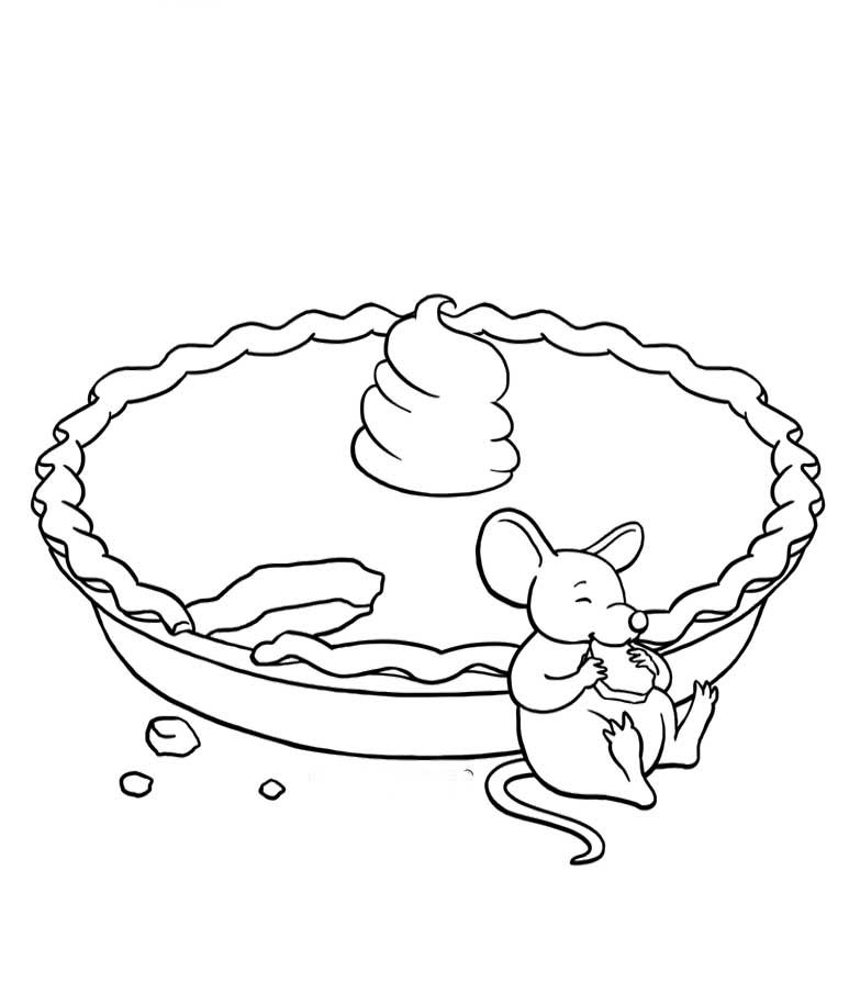 The Mouse Eat Pie Coloring Pages Fall Coloring Pages Pinterest