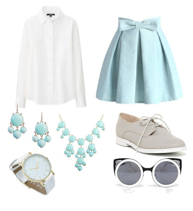"""Mix and match"" by jazbay1 on Polyvore featuring Chicwish, Uniqlo, ALDO and Quay"