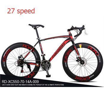 21 27 Speed 700c Road Racing Bike Carbon Steel Frame Mountain Road