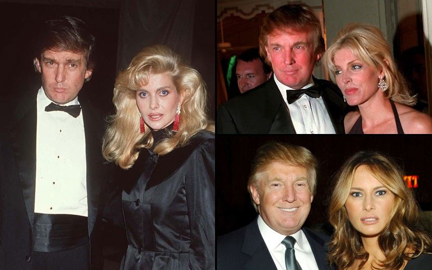 Celebrity wife swap: Famous men and their partners who look like old  flames. Donald Trump ...