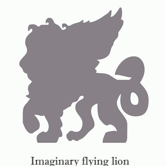 Imaginary force flying lion vinyl decal custom made 6 inch window decal kayak decal