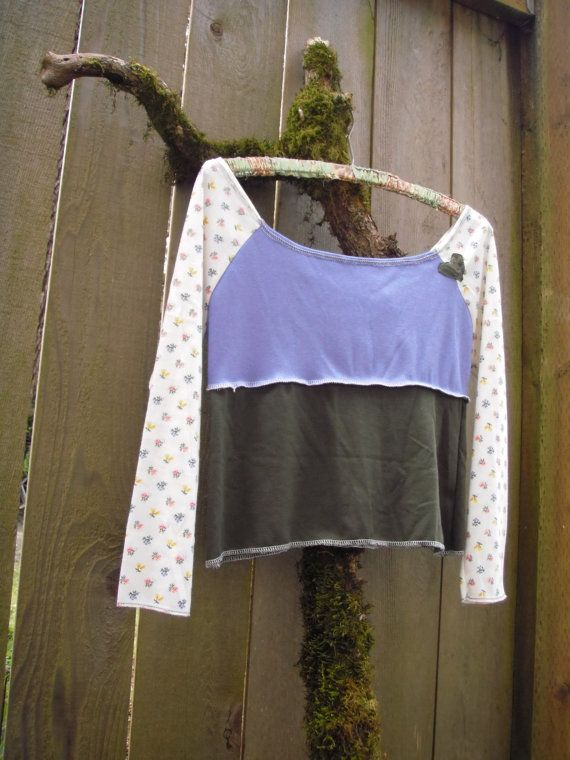 Eco Off the Shoulder Jersey Crop Top/ Color by FuriousDesigns, $42.00