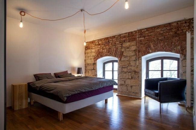 Schlafzimmer industrieller Wohnstil einrichten Ideen | Wohnräume ...