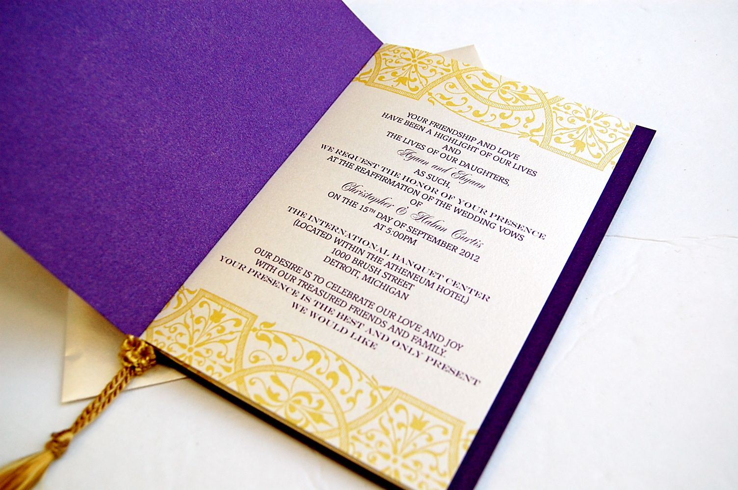 purple and gold wedding - Google Search | Illuminations 2015 Ideas ...