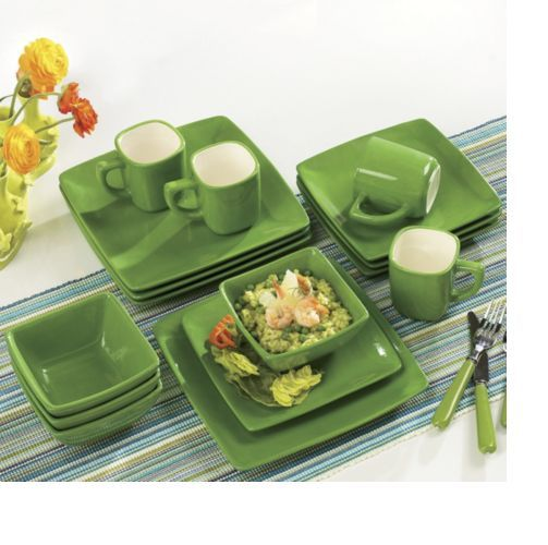 green square dinnerware  sc 1 st  Pinterest & green square dinnerware | Products I Like | Pinterest | Squares ...