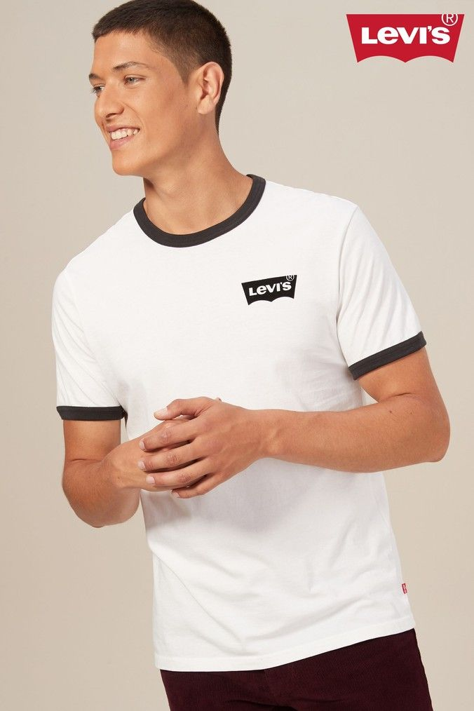 53c99d2b5 Mens Levi's Housemark Ringer T-Shirt - White | Products in 2019 ...